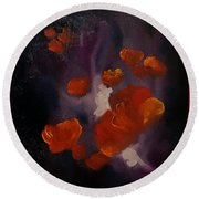 Ethereal Poppies                     81 Round Beach Towel