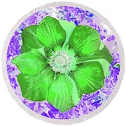 Ethereal Purple Poppy Too Round Beach Towel