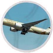 Ethiad Cargo Boeing B777 Round Beach Towel