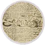Ethinthus Queen Of Waters Round Beach Towel