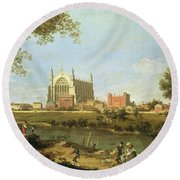 Eton College Round Beach Towel