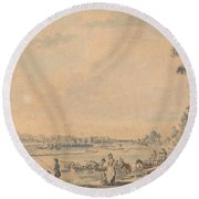 Eton College From The South Round Beach Towel