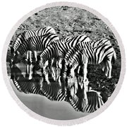 Etosha Pan Reflections Round Beach Towel