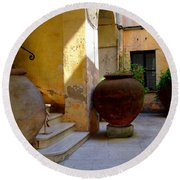 Etruscan Tarquinia Italy North Of  Rome Round Beach Towel