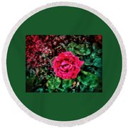 Etude  With       Rose -oil Round Beach Towel