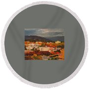 Eugene In Fall Round Beach Towel