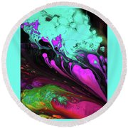 Euphoric Playground Round Beach Towel