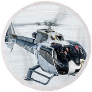 Eurocopter Ec130 With Fantastic Livery Round Beach Towel