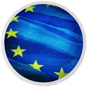 European Flag Round Beach Towel