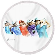 European Golf Champions Race 2017 Round Beach Towel