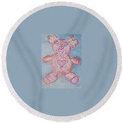 Ev Teddy Round Beach Towel