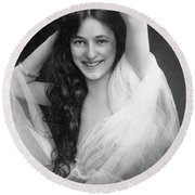 Evelyn Nesbit (1885-1967) Round Beach Towel