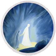 Even In The Darkness Of Out Sufferings Jesus Is Close To Us Round Beach Towel by Elizabeth Wang