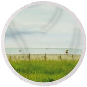 Evening At Cape May Round Beach Towel