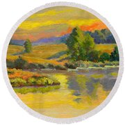 Evening Color Round Beach Towel