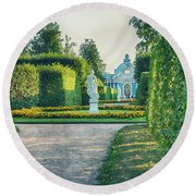 Evening In Classic Park Round Beach Towel by Ariadna De Raadt