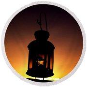 Evening Lantern Round Beach Towel