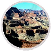 Evening Light Over The Grand Canyon Round Beach Towel