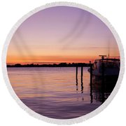 Evening Of Peace - Jersey Shore Round Beach Towel