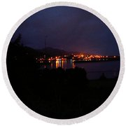 Evening On The Southern Oregon Coast Round Beach Towel