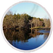 Evening On The Speed River Round Beach Towel