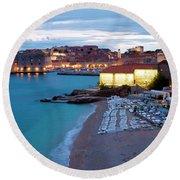 Evening Over Dubrovnik Round Beach Towel