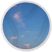 Evening Over The Valley Round Beach Towel