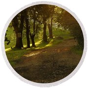 Evening Path Round Beach Towel