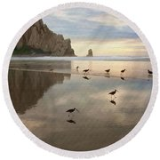Evening Reflection Round Beach Towel