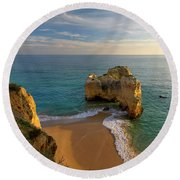 Evening Rocha Rocks Round Beach Towel