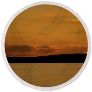 Evening Settles In Round Beach Towel