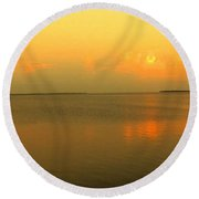 Evening Shades Round Beach Towel