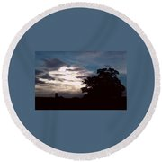 Evening Sky 1 Round Beach Towel