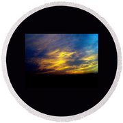 Evening Sky 5 Round Beach Towel