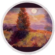 Evening Splendor Round Beach Towel