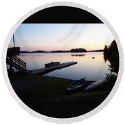 Evening Water Bliss Round Beach Towel