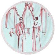 Evening Wear, 1956 Round Beach Towel