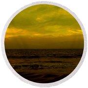 Evening's Contemplation Round Beach Towel