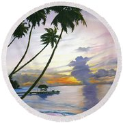 Eventide Tobago Round Beach Towel by Karin  Dawn Kelshall- Best