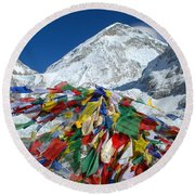 Everest Base Camp Round Beach Towel
