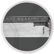 Everett St. - Portland, Oregon Round Beach Towel