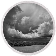Everglades 0257bw Round Beach Towel