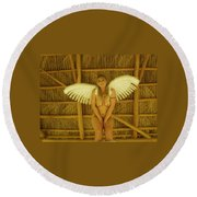 Everglades Angel Round Beach Towel