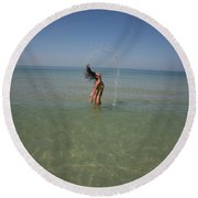 Everglades City 933 Round Beach Towel
