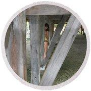 Everglades City Beauty 527 Round Beach Towel