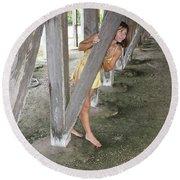 Everglades City Beauty 534 Round Beach Towel
