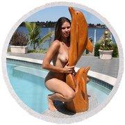 Everglades City Fl. Professional Photographer 350 Round Beach Towel