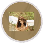 Everglades City Fl. Professional Photographer 4183 Round Beach Towel