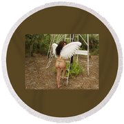 Everglades City Fl. Professional Photographer 4195 Round Beach Towel