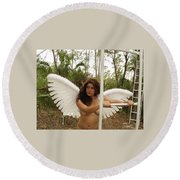 Everglades City Fl.professional Photographer 4190 Round Beach Towel